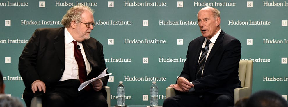DNI Coats Remarks at Hudson Event Widely Covered by Major News Outlets